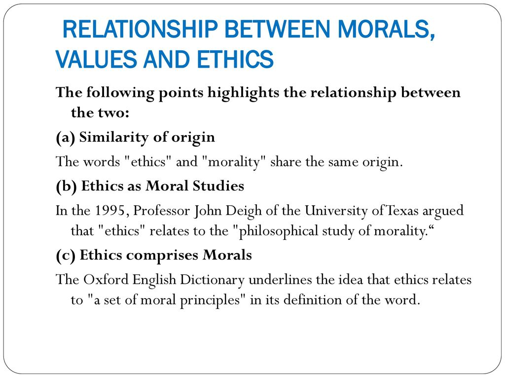 similarities between morals and ethics