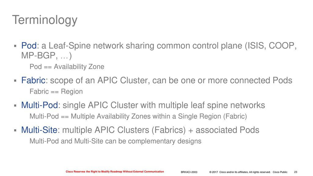 Application Centric Infrastructure Review and Update - ppt download