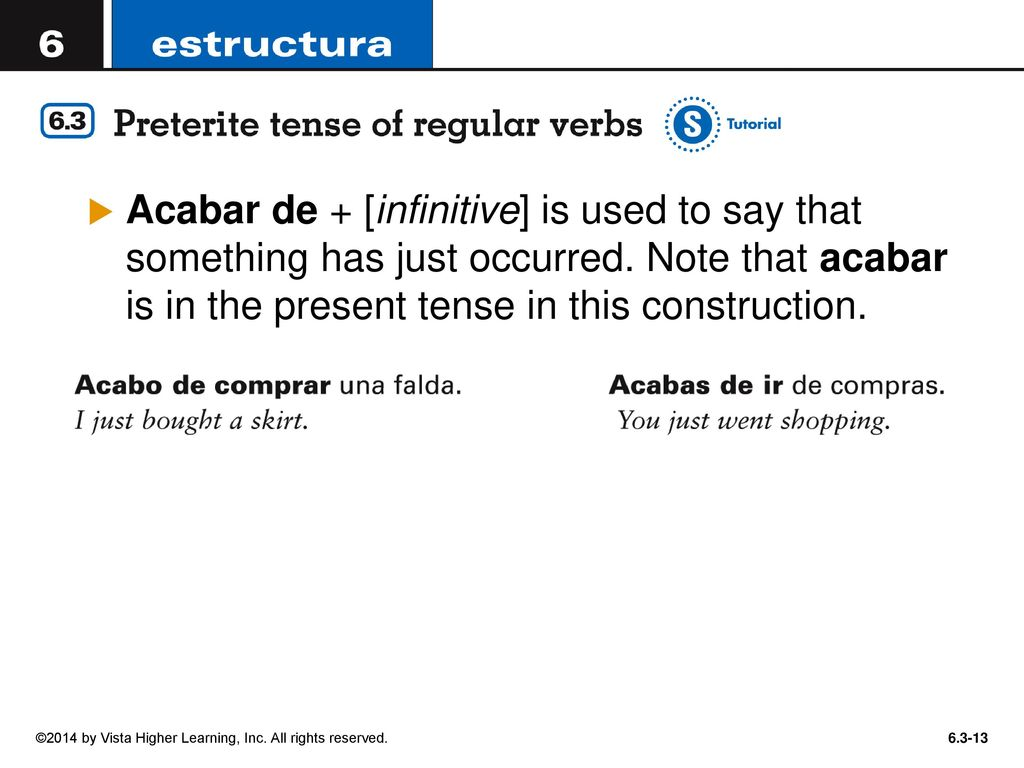 In Order To Talk About Events In The Past Spanish Uses Two Simple