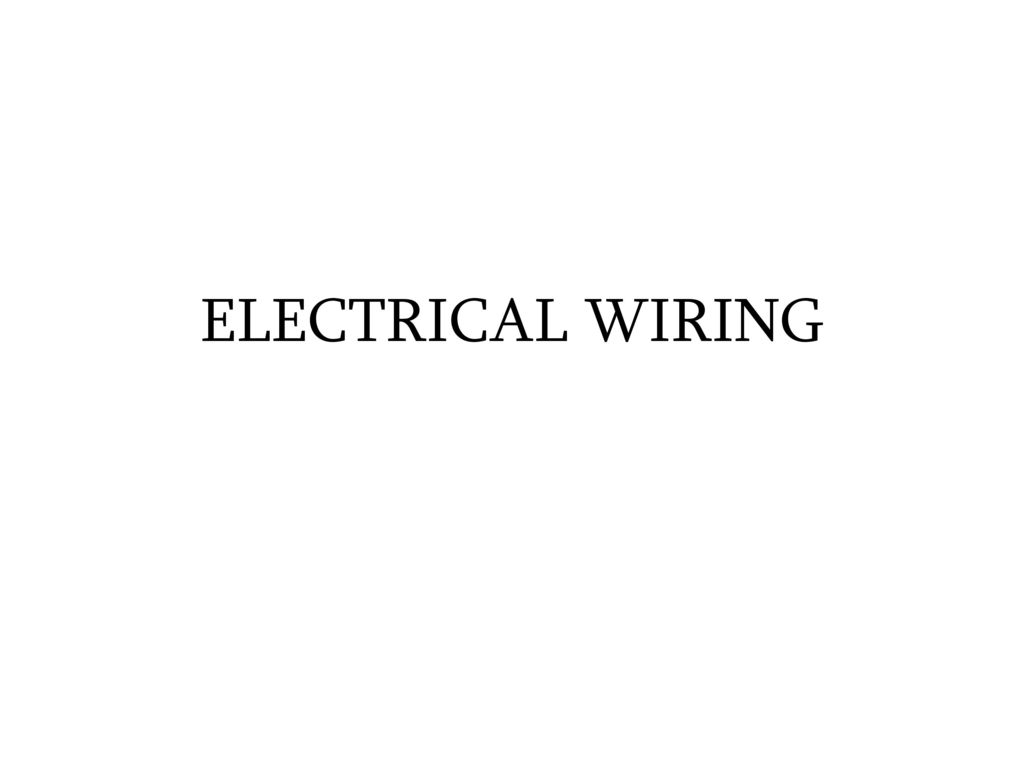 Unit 5 Electrical Safety Wiring Introduction To Power System House Rules In India 19