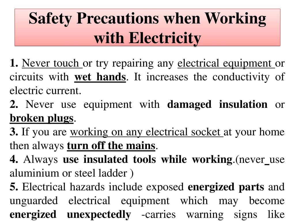 unit 5 electrical safety wiring introduction to power system rh slideplayer com electrical wiring safety nec electrical wiring safety rules