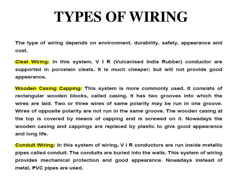 Type Of Wiring Not Lossing Diagram House Electrical Types Unit 5 Safety Introduction To Power System Rh Slideplayer Com In New Home