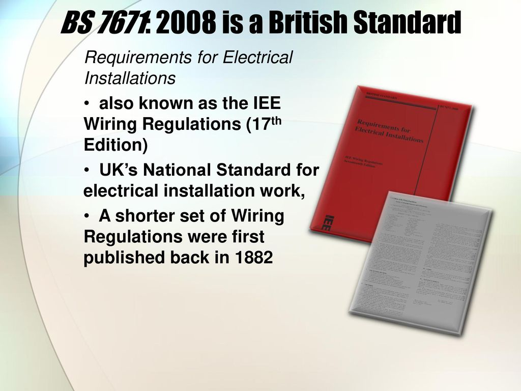 Performing Engineering Operations Ppt Download Bs7671 Wiring Regulations 22 Bs 7671