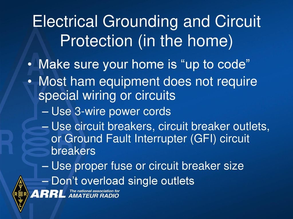 Technician License Course Module Eighteen Electrical And Rf Safety Home Wiring Ground 7 Grounding