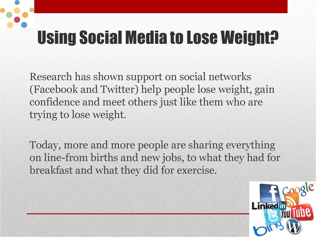 Social networks will help lose weight 65
