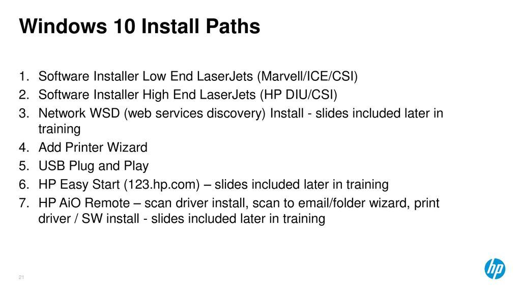Windows 10 LaserJet Training - ppt download