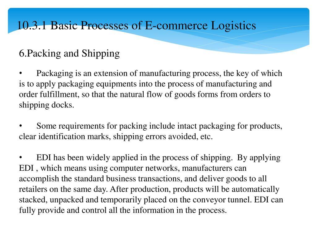 Chapter 07 E-Commerce Logistics - ppt download