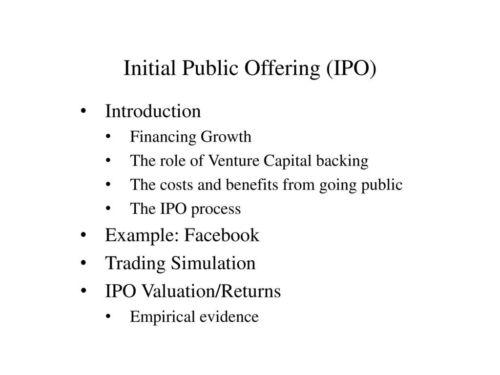 initial public offering example