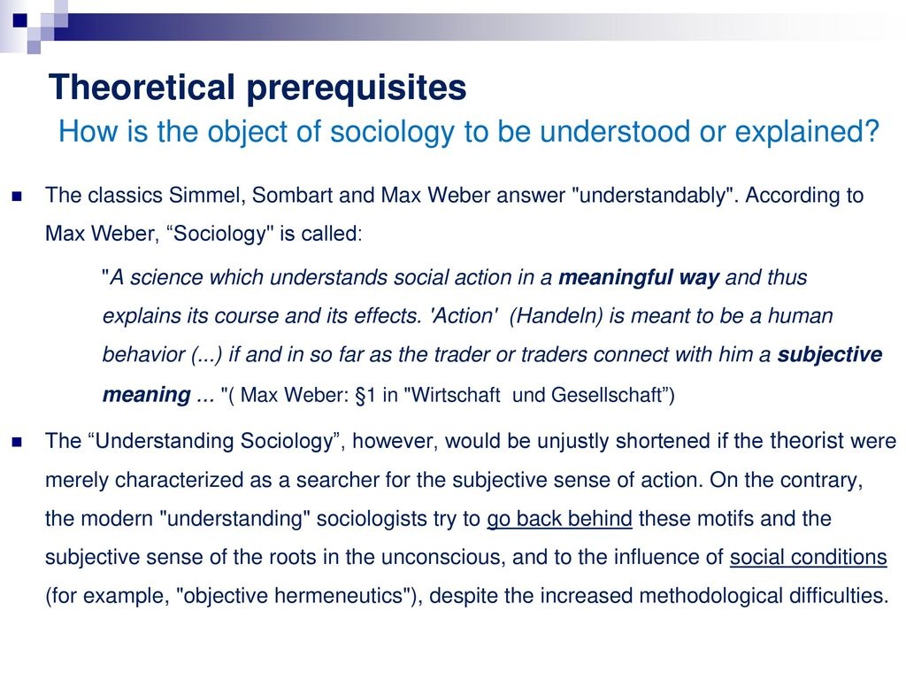 Object of Sociology