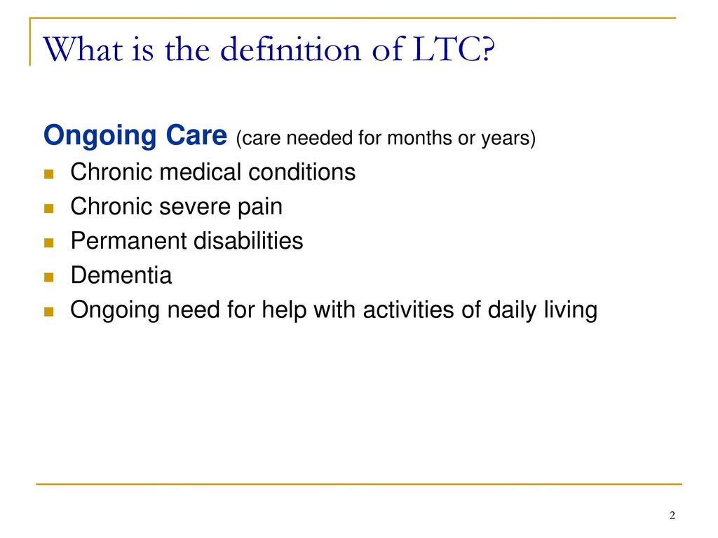 long term care insurance - ppt download