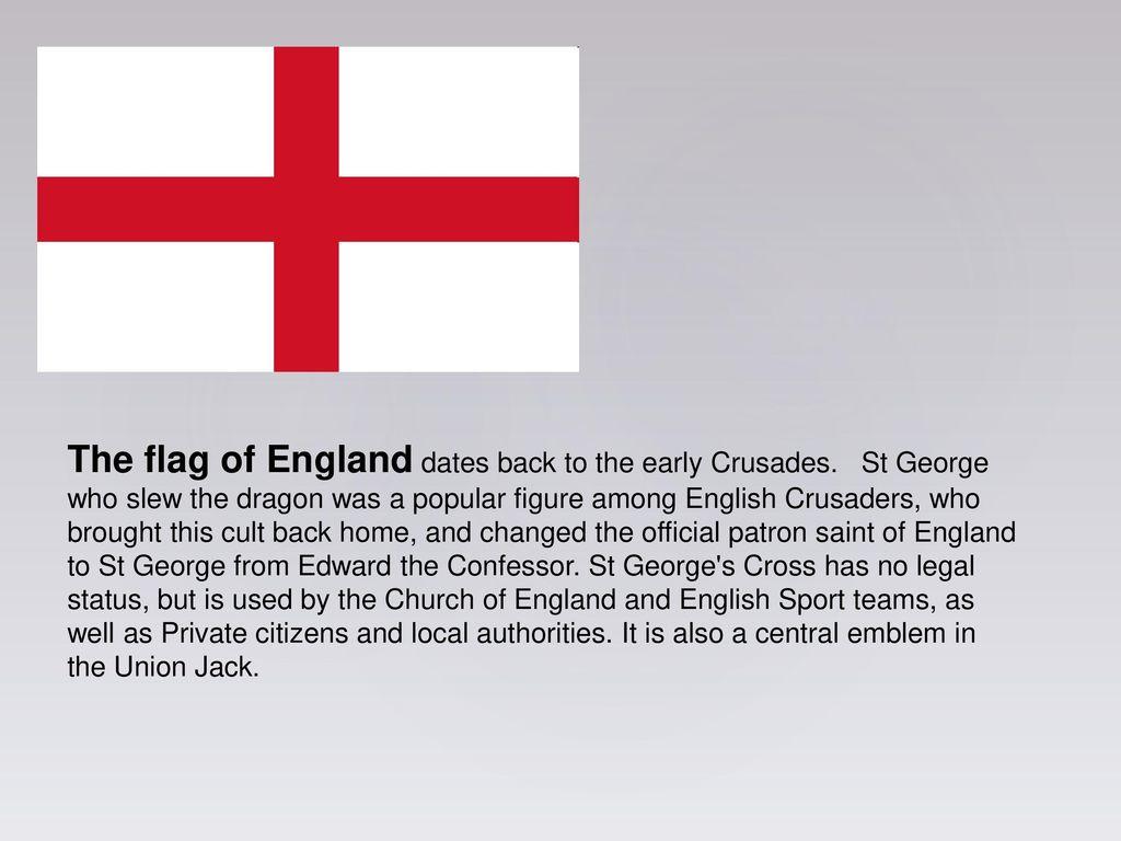Flags and Saints ENGLAND WALES SCOTLAND Flag of Saint George - ppt ...