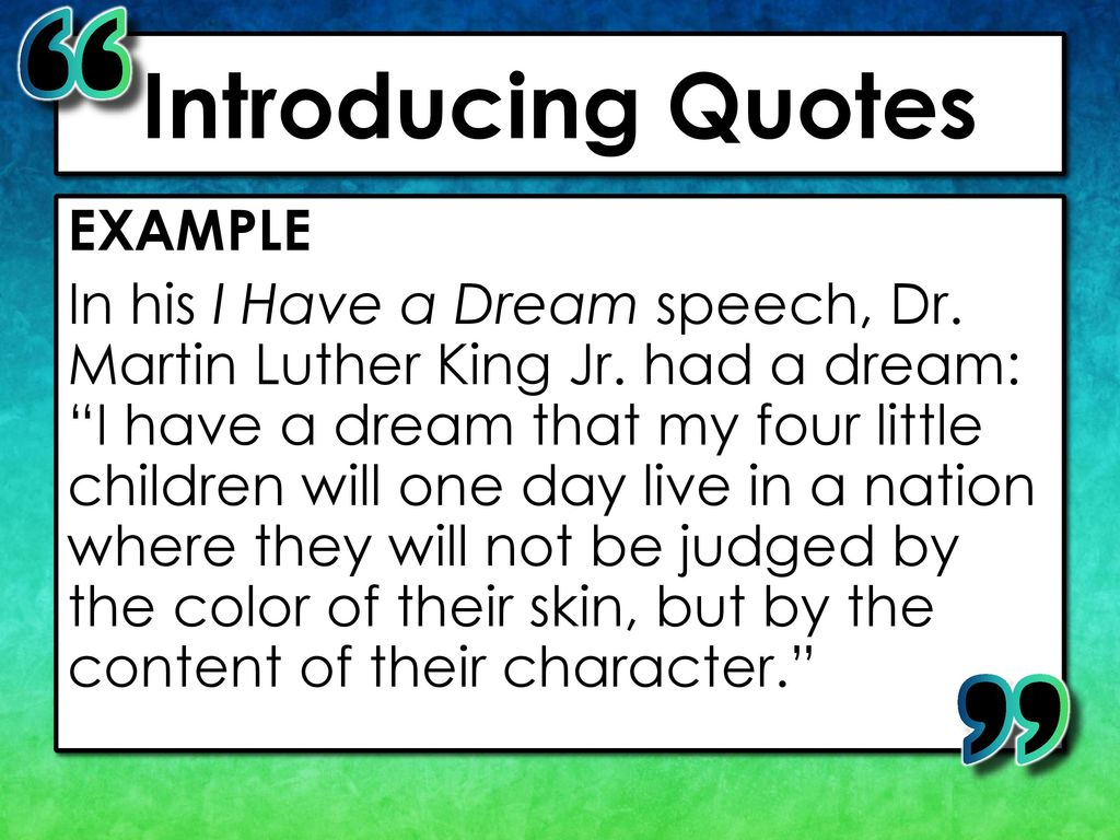my dream speech