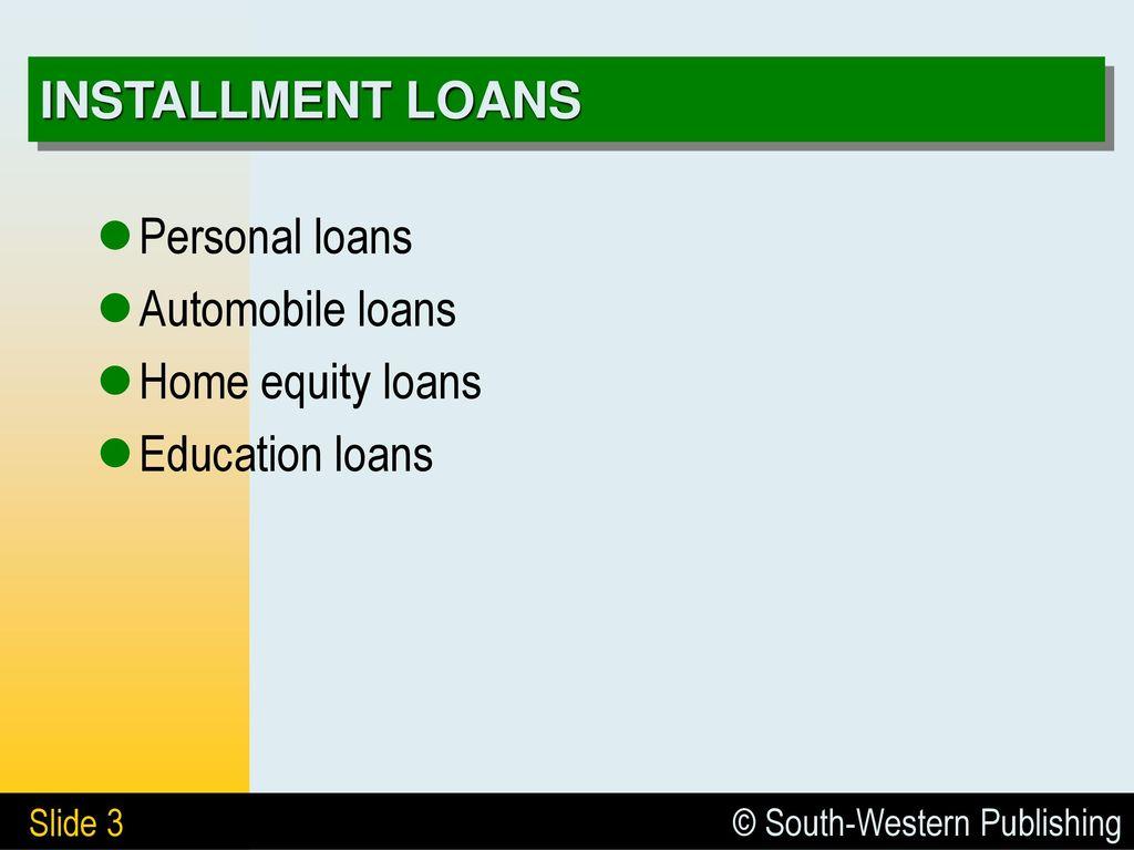 6 bank loans 6.1 consumer loans 6.2 granting and analyzing credit