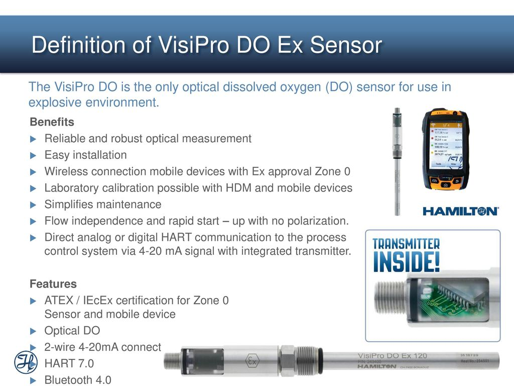 visipro™ do ex first optical do sensor with atex approval - ppt download