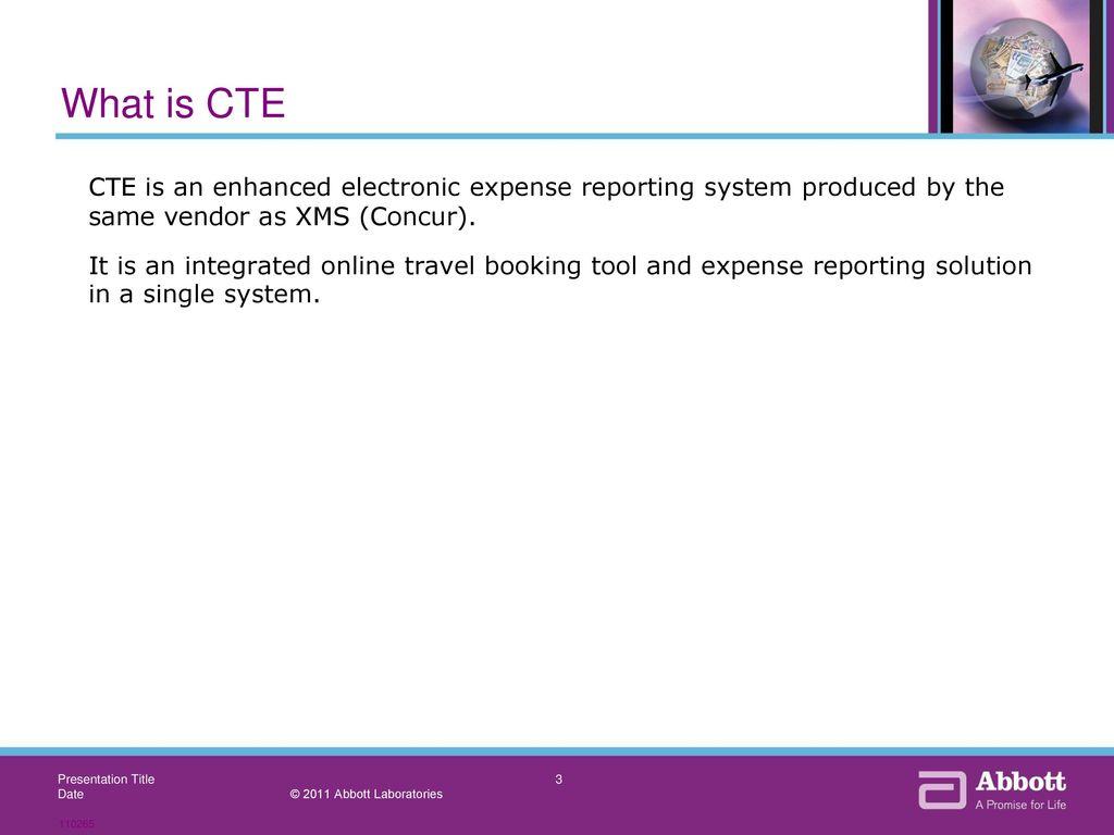 concur travel expense cte ppt download