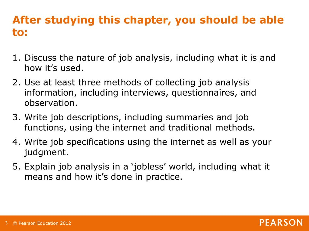 Chapter 4: Job Analysis Lecturer: - ppt download