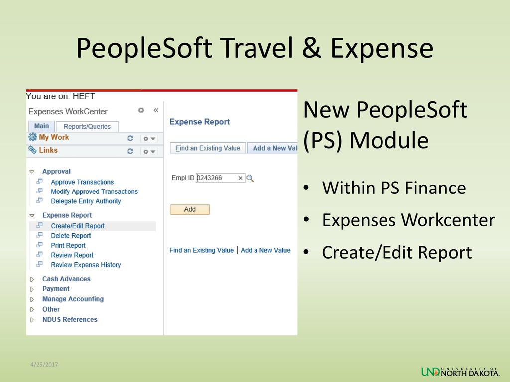 PeopleSoft Travel & Expense