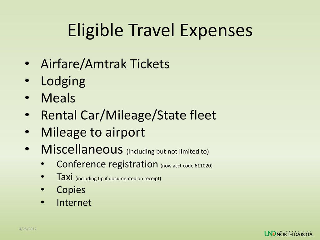 Eligible Travel Expenses