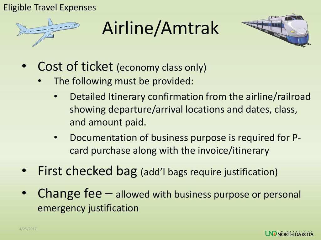 Airline/Amtrak Cost of ticket (economy class only)