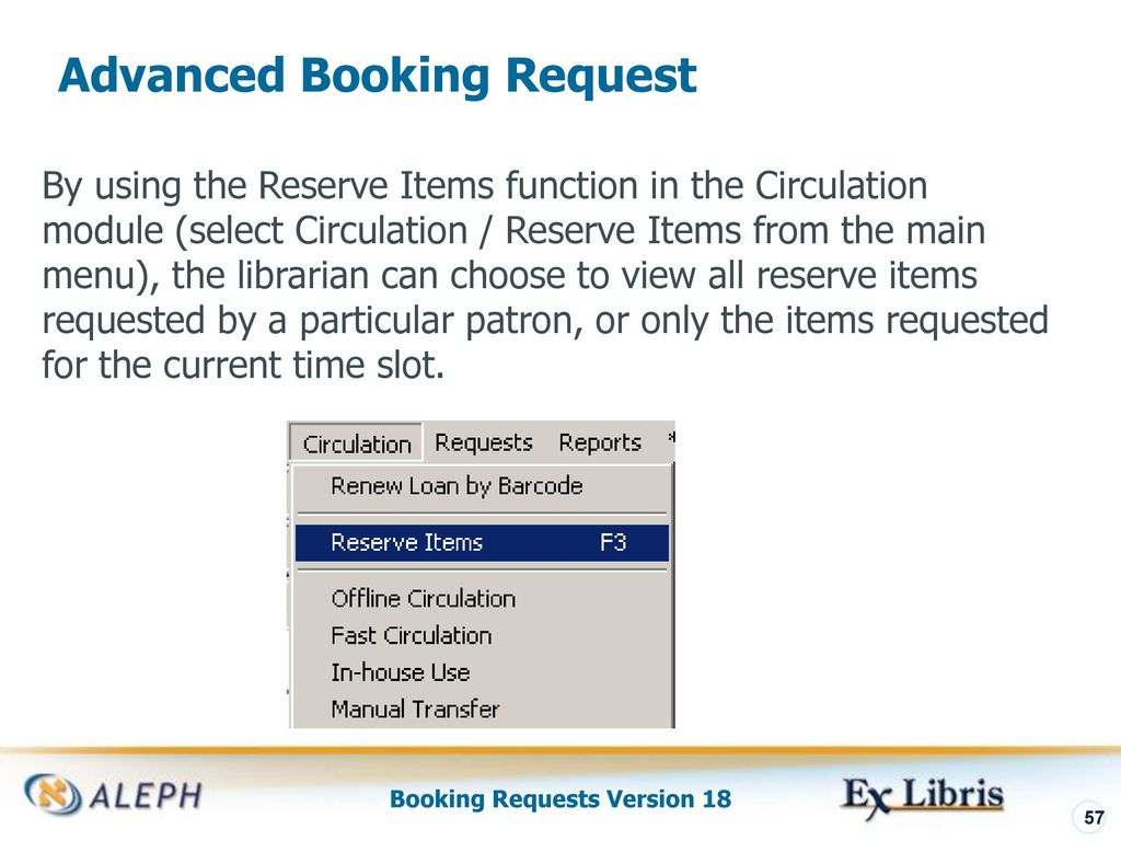booking requests aleph 500 version ppt download rh slideplayer com View Requests Monocular View Requests Monocular