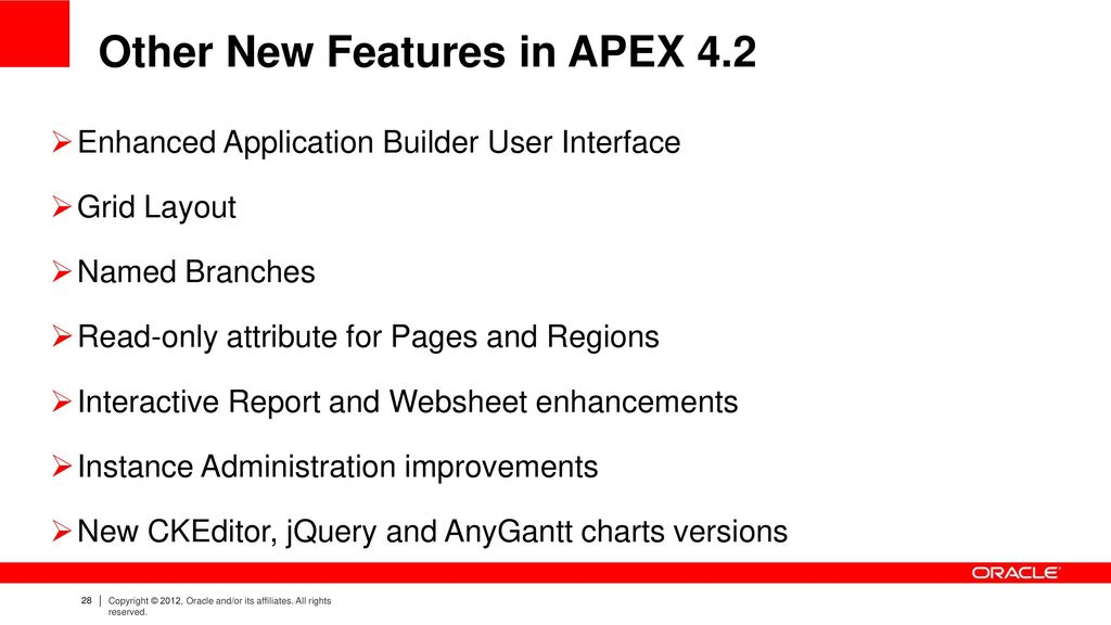 Oracle Application Express 4 2 New Features - ppt download