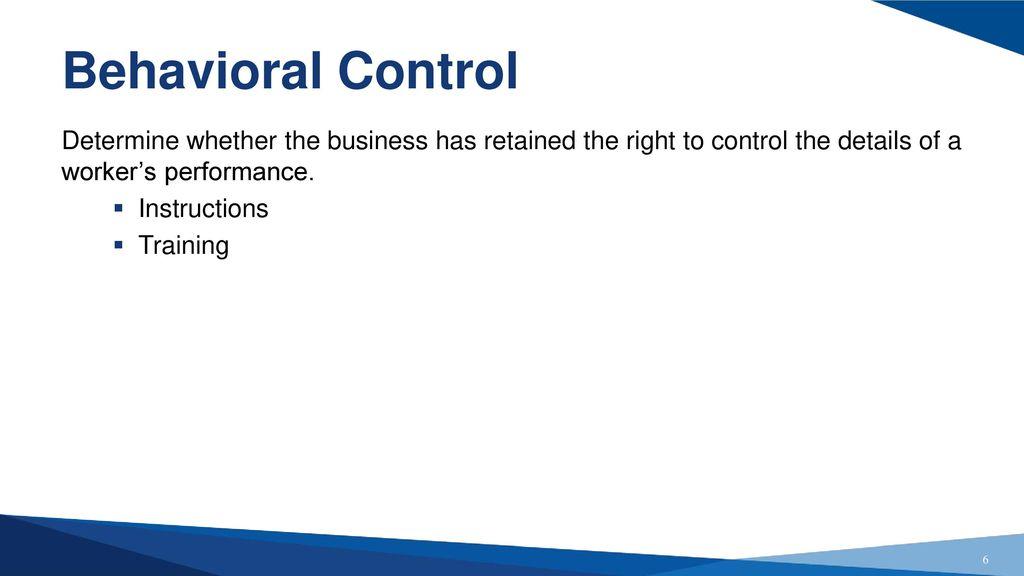 Employee Versus Independent Contractor Ppt Download