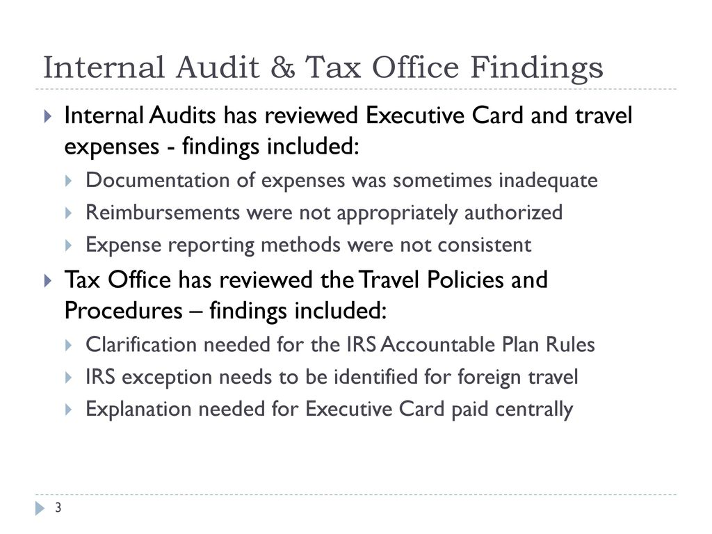 executive s guide to irs travel and business expense rules ppt