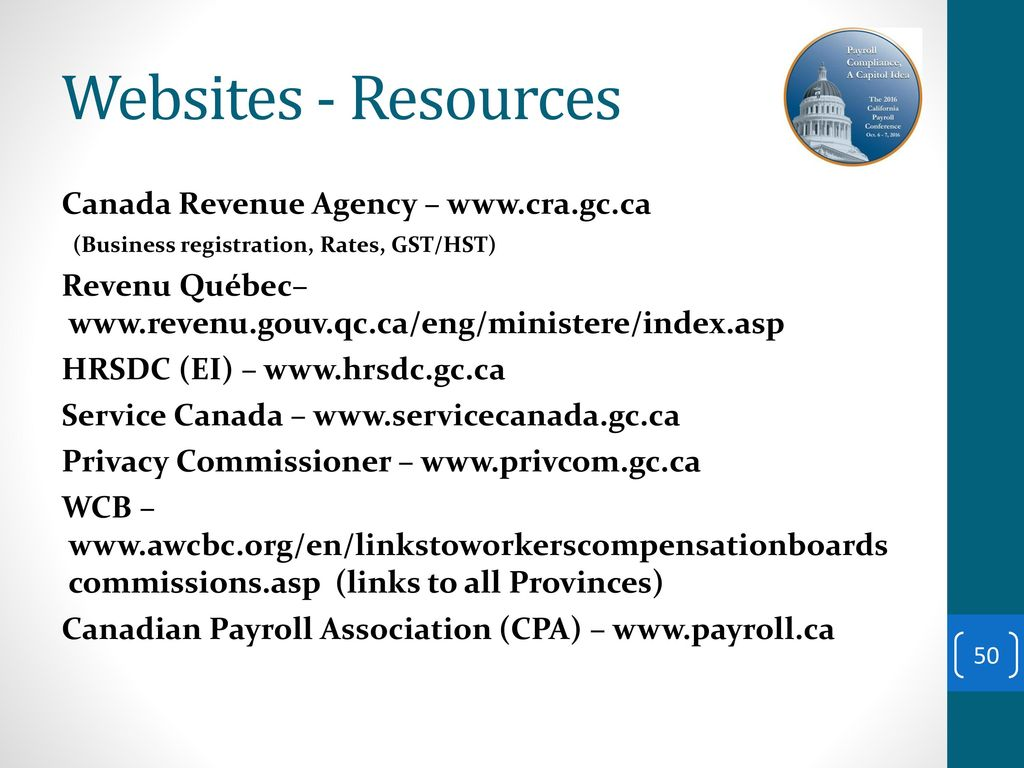 introduction to canada payroll ppt download