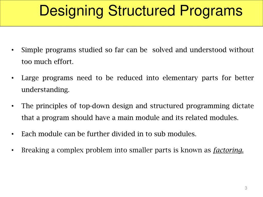 Structural Programming: Basic Principles 46