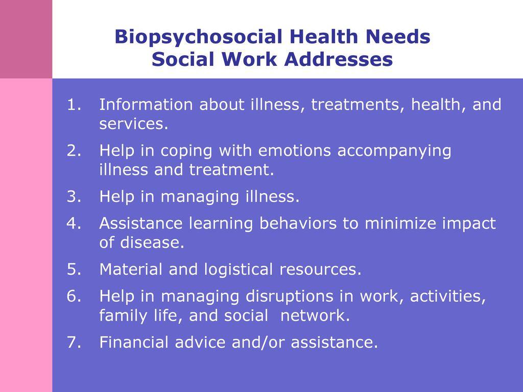 biopsychosocial social work