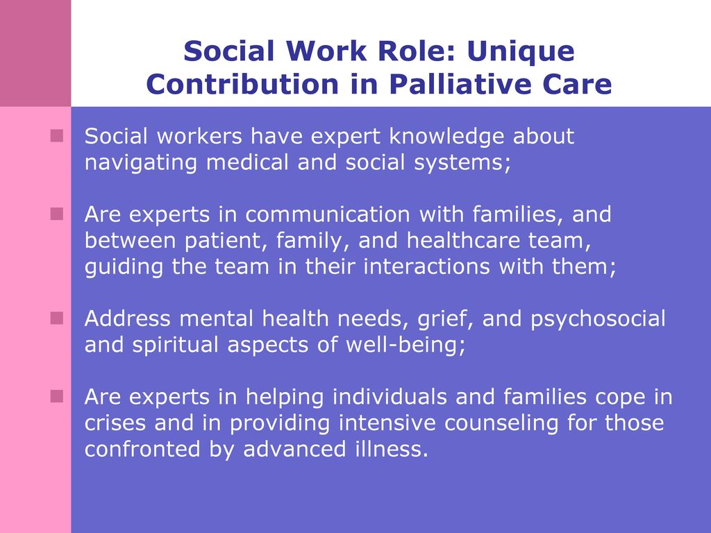 What does an expert in social work do