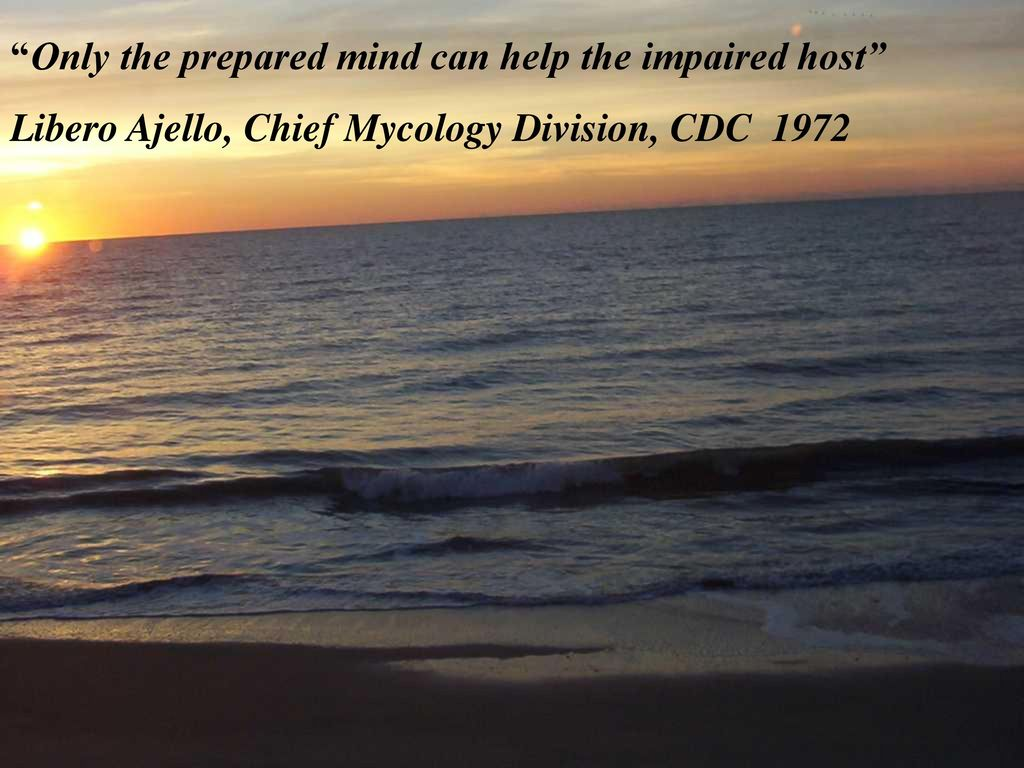 Only the prepared mind can help the impaired host