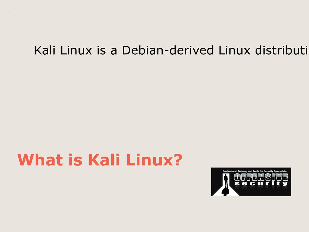 Kali Linux Presentation on Kali Linux TGodfrey – Falconer