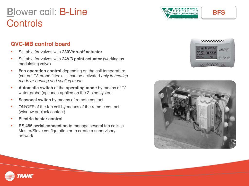 Unitrane Terminals High Wall Fan Coil W Line Ducted D 230vac Temperature Control 18 Blower