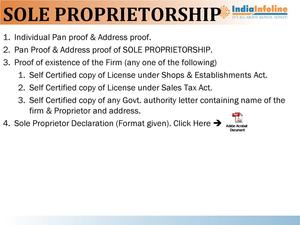 Nbfc ppt download sole proprietorship individual pan proof address proof thecheapjerseys Image collections