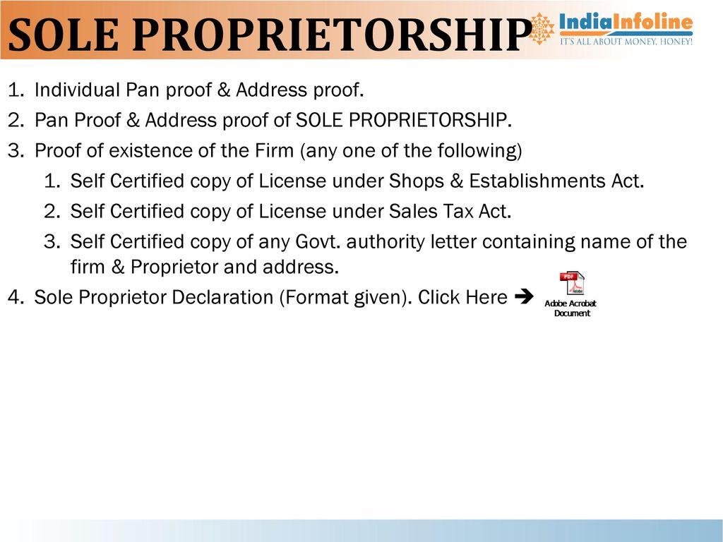Nbfc ppt download sole proprietorship individual pan proof address proof thecheapjerseys Choice Image
