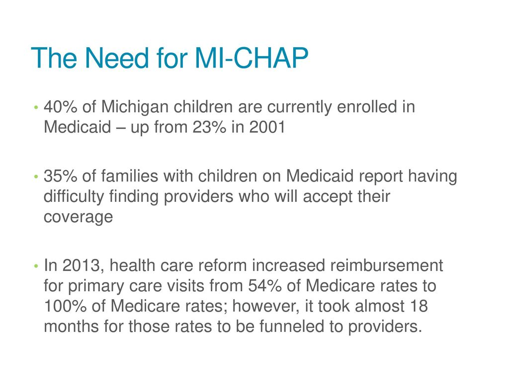 Need for CHAP Health Net of West Michigan  Need for CHAP