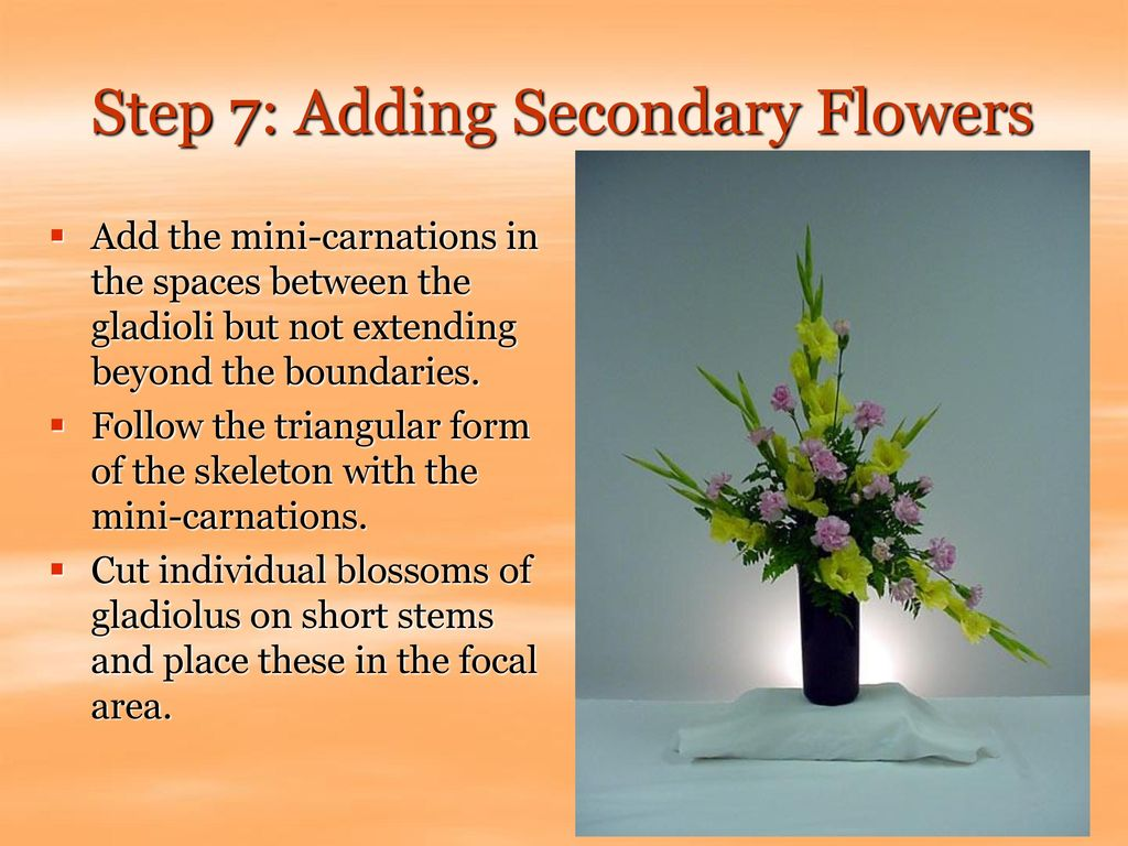 Step 7: Adding Secondary Flowers