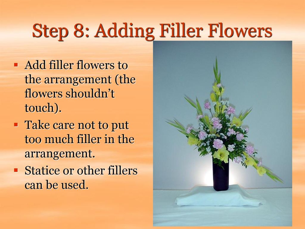 Step 8: Adding Filler Flowers