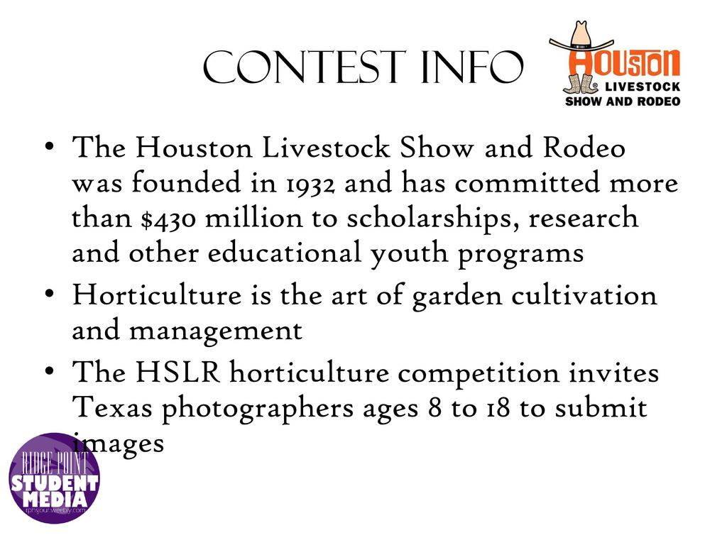 RodeoHouston horticulture photography contest - ppt download