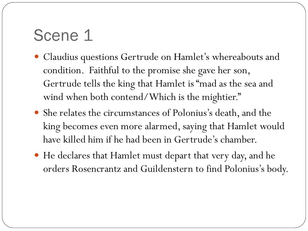 Hamlet Act 4 Scene By Ppt Download 1 2 King Claudiu Speech Analysis