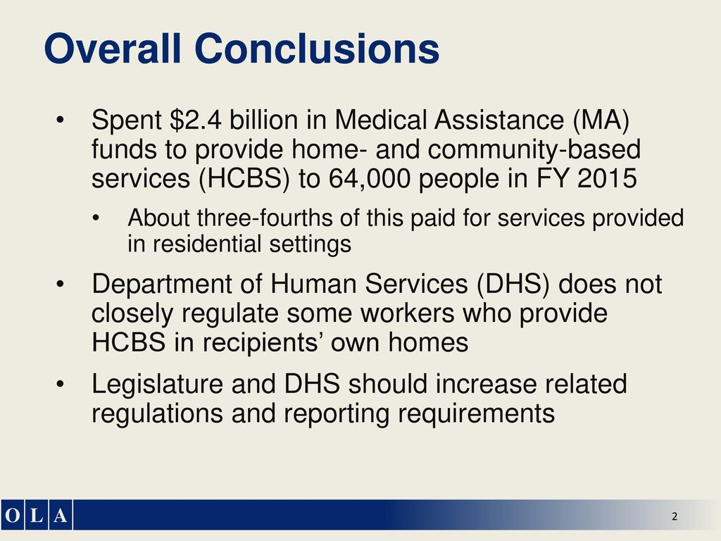Home- and Community-Based Services: Financial Oversight - ppt download