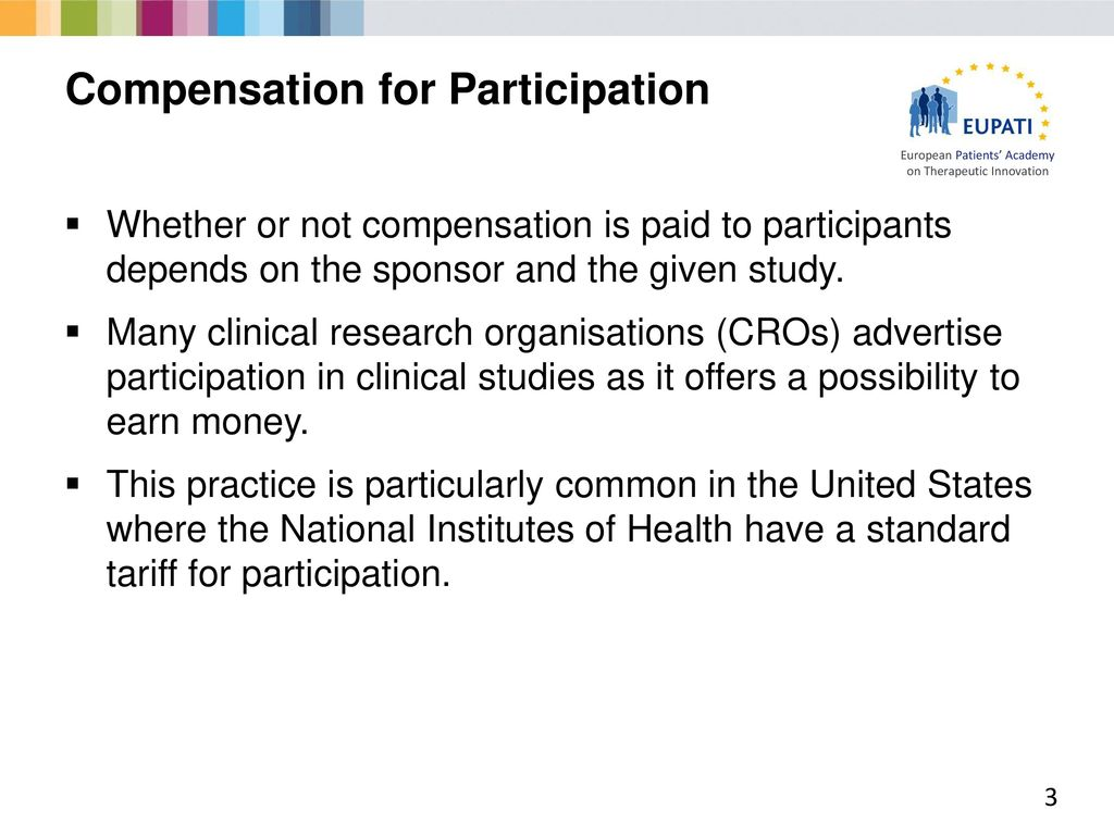 Compensation in Clinical Trials - ppt download