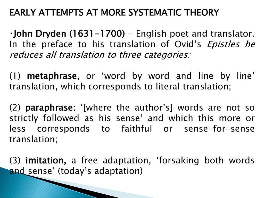 Translation Theory Mirvan Xh I Phd Ppt Video Online Download Metaphrase Paraphrase And Imitation