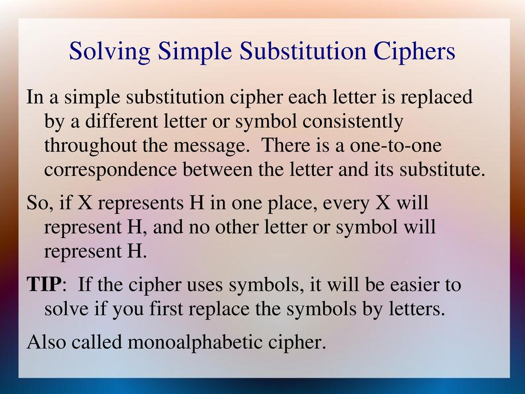 CLS Fall 2017 Codes and Ciphers Frank Rubin - ppt download