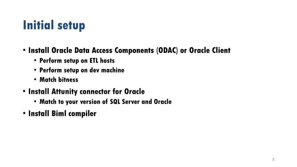Moving Data from Oracle to SQL with Biml - ppt download