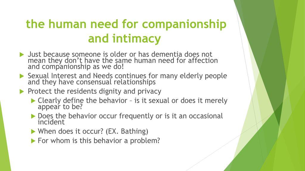 why do humans need companionship
