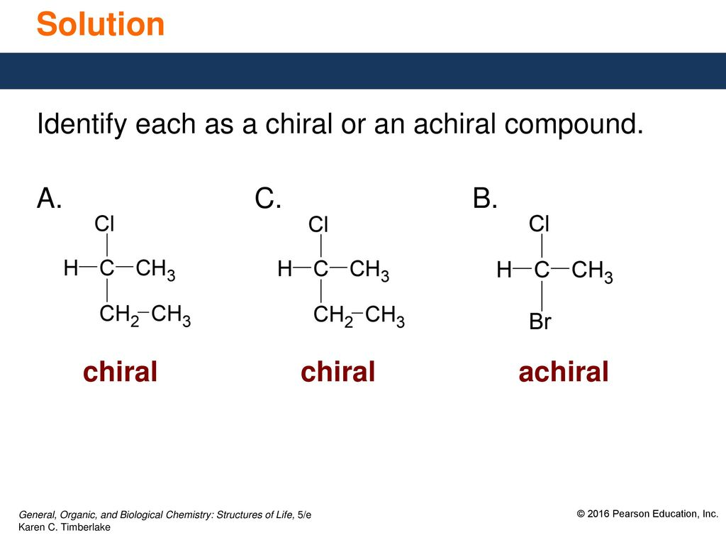145 Chiral Molecules An Object Whose Mirror Image Is Identical To