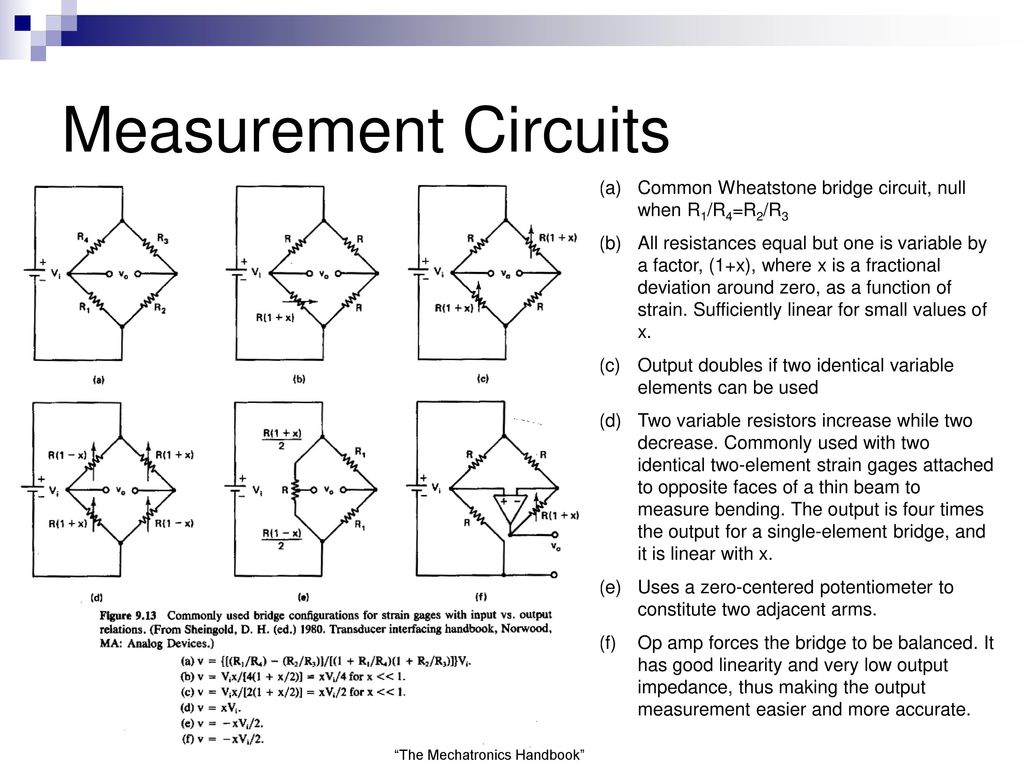 Semiconductor Strain Gages Ppt Download Wheatstone Bridge Wiring Diagram Measurement Circuits Common Circuit Null When R1 R4r2 R3