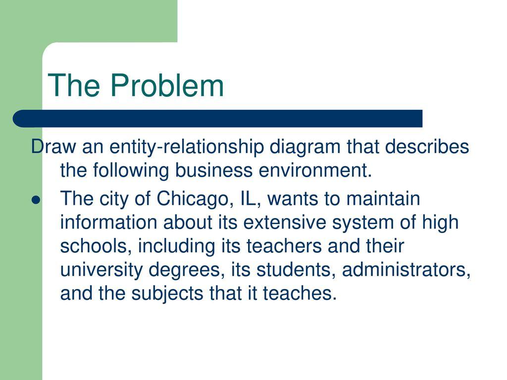 Creating an ERD Part 1 Define the Problem - ppt video online download